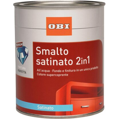 OBI smalto satinato 2 in 1 marrone opaco 750 ml