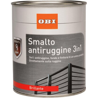 OBI smalto antiruggine 3 in 1 bianco lucido 750 ml