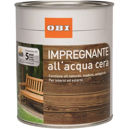 OBI impregnante all`acqua a cera noce 750 ml