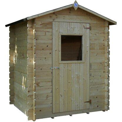 Casetta blockhouse in legno brunico acquista da obi for Casette obi