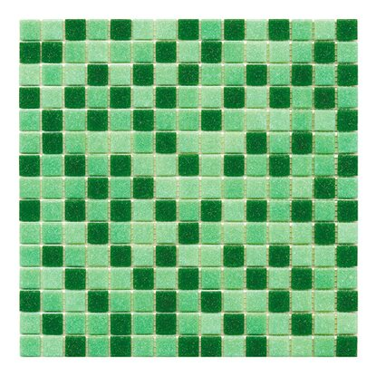 Mosaico decorativo Mix Classic green 32,7 cm x 32,7 cm