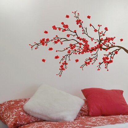 decorazioni adesive per parete ramage rosso acquista da obi