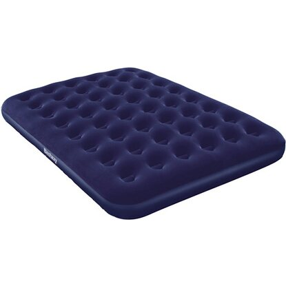Bestway airbed blu floccato matrimoniale plus
