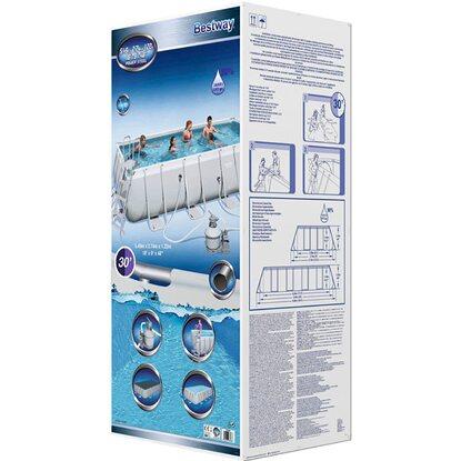 Bestway piscina power steel frame 549 cm x 274 cm acquista for Bestway obi