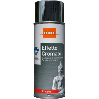 OBI vernice spray brillante effetto cromato 400 ml