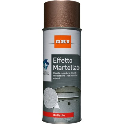 OBI vernice spray brillante effetto martellato rame 400 ml