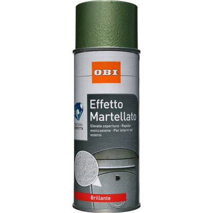 OBI vernice spray brillante effetto martellato verde 400 ml