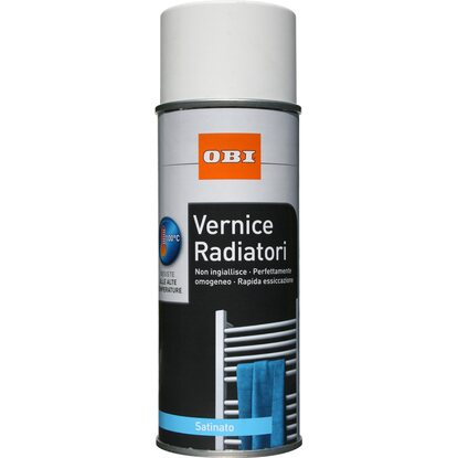 OBI vernice spray Radiatori satinata bianco 400 ml