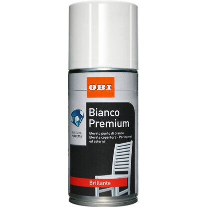 OBI vernice spray Premium brillante bianco 150 ml