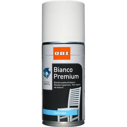 OBI vernice spray Premium satinata bianco 150 ml
