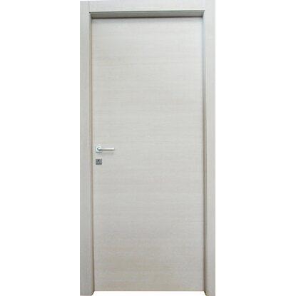 Porta a battente reversibile thuile acero neve 210 cm x 70 - Porte da interno obi ...