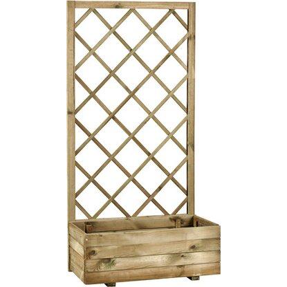 Fioriera ecoflora con griglia acquista da obi for Fioriere in legno obi