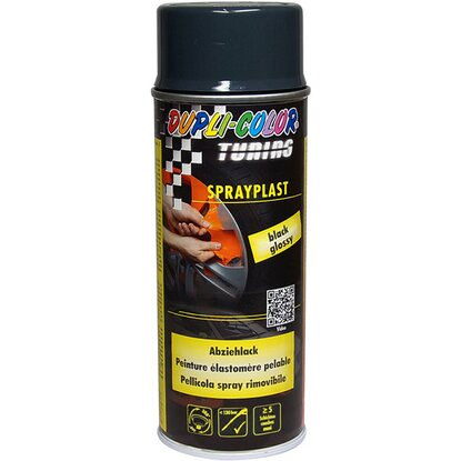 Vernice rimovibile Spray Sprayplast 400 ml nero semi-lucido
