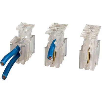 Morsetti per 4 cavi unipolari sezione 2 5 mm trasparente - Sezione cavi elettrici casa ...