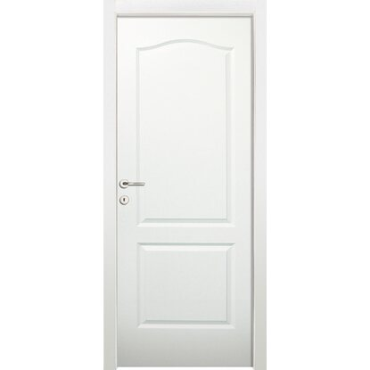 Porta a battente versione destra Giulia bianco laccato 80 cm x 210D ...