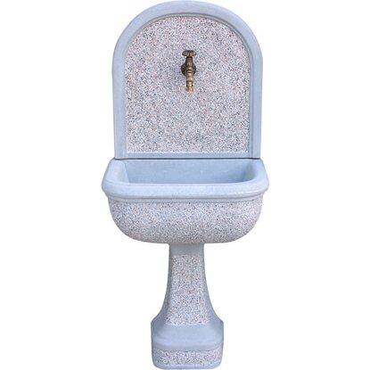 Fontana a muro mincio martellinata grigio acquista da obi for Pompe per fontane da giardino