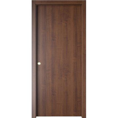 Porta scorrevole reversibile badia noce 210 cm x 80 cm - Obi porte da interno ...