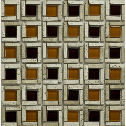 Mosaico decorativo Cesto orange 29,5 cm x 29,5 cm