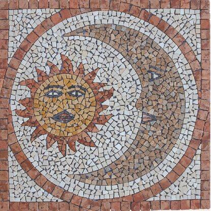 Rosone decorativo sole e luna 66 cm x 66 cm acquista da obi - Piastrelle decorative per esterni ...