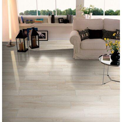 Piastrella pavimento porcellanato effetto legno avorio 20 cm x 120 cm acquista da obi - Parquet da incollare su piastrelle ...
