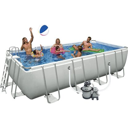 Intex piscina ultra frame rettangolare 457 cm x 274 cm x for Piscina 457 x 122