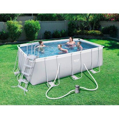 Bestway piscina power steel frame rettangolare 412 cm x for Piscine bestway
