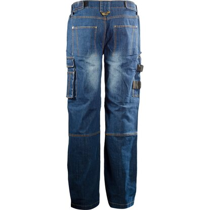 Pantaloni Multipocket cordura denim blu M