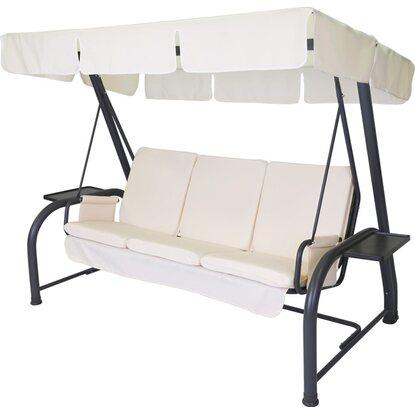 Stiliac set cuscini e tettuccio dondolo royal beige for Dondolo da giardino obi