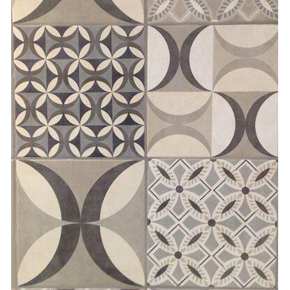 Rivestimento parete in ceramica cementine grigio marrone for Piastrelle da parete