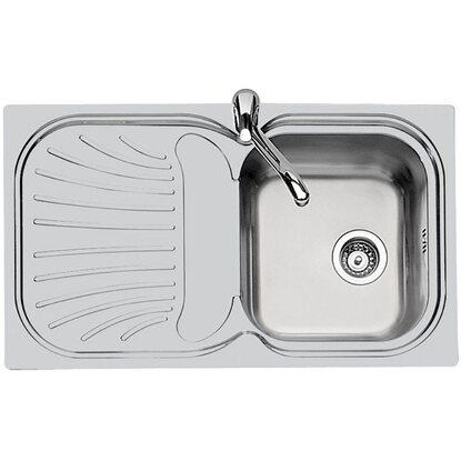 Lavello in acciaio inox con una vasca destra - 86 x 50 cm