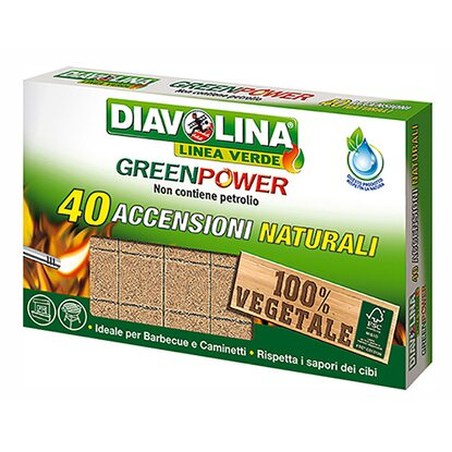 Diavolina Green Power 40 accensioni naturali