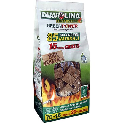 Diavolina Green Power 85 accensioni naturali