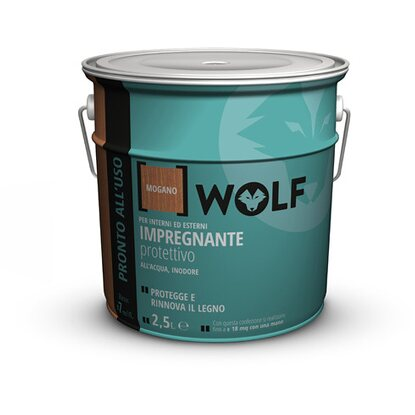 Wolf impregnante all`acqua mogano 2,5 l