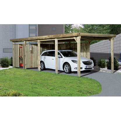 Carport con copertura 617 Mis.3 322 x 802 x 233 mm con tetto in materiale plasti