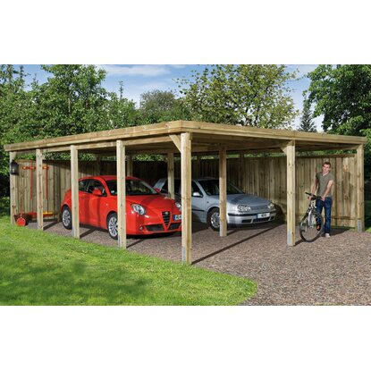 Carport con copertura 618 Mis.2 603 x 802 x 233 mm con tetto in materiale plasti