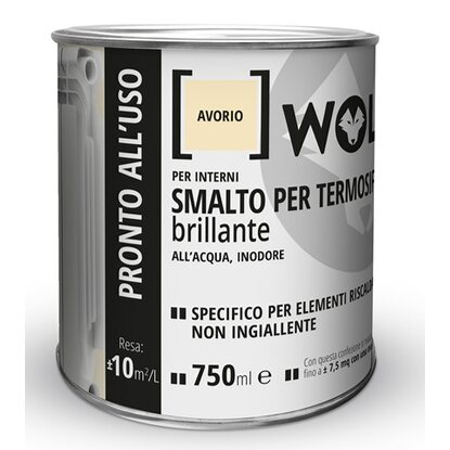 Wolf smalto termosifone avorio brillante 750 ml