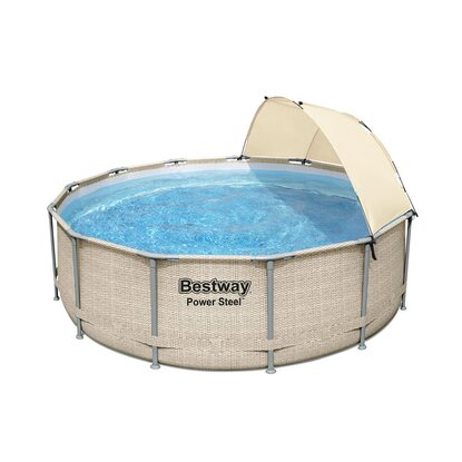 Set piscina fuori terra Power Steel  Bestway® 3.96x1.07m con parasole