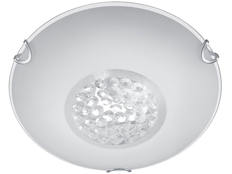 Plafoniere Da Obi : Trio plafoniera tonda cormint in vetro bianco decoro gemme 25 cm