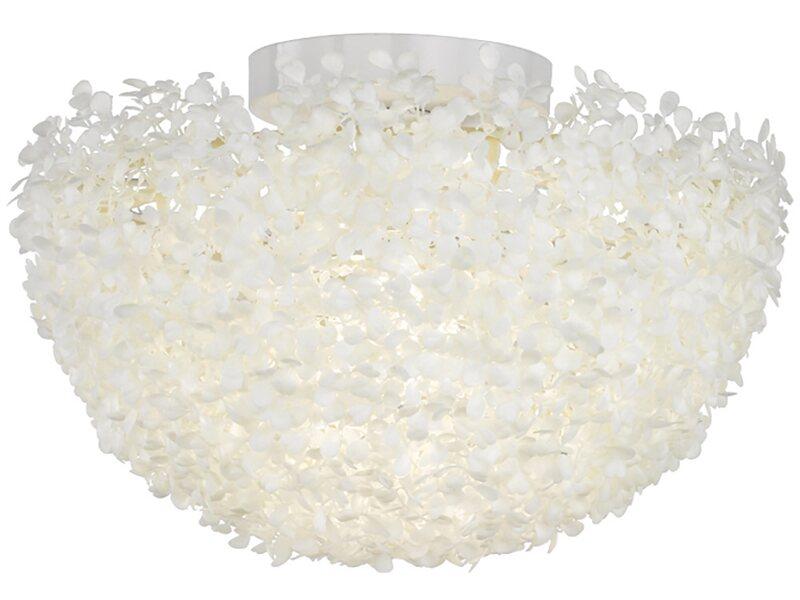 Plafoniera Tessuto Quadrata : Trio plafoniera sfera dahlia effetto tessuto bianco cm acquista
