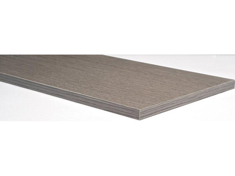 Piano melaminico rovere grigio 1 8 cm x 100 cm x 50 cm for Travi finto legno obi