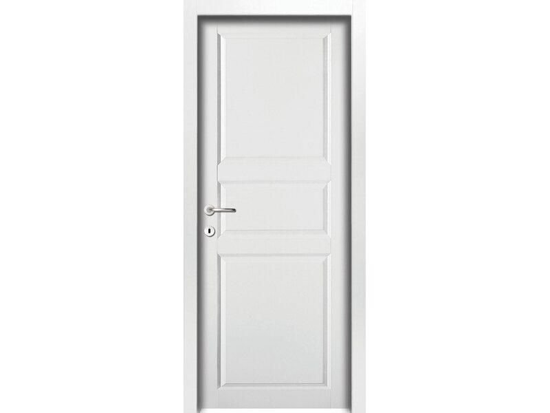 Porta a battente versione destra new york bianco laccato for Porte interne obi