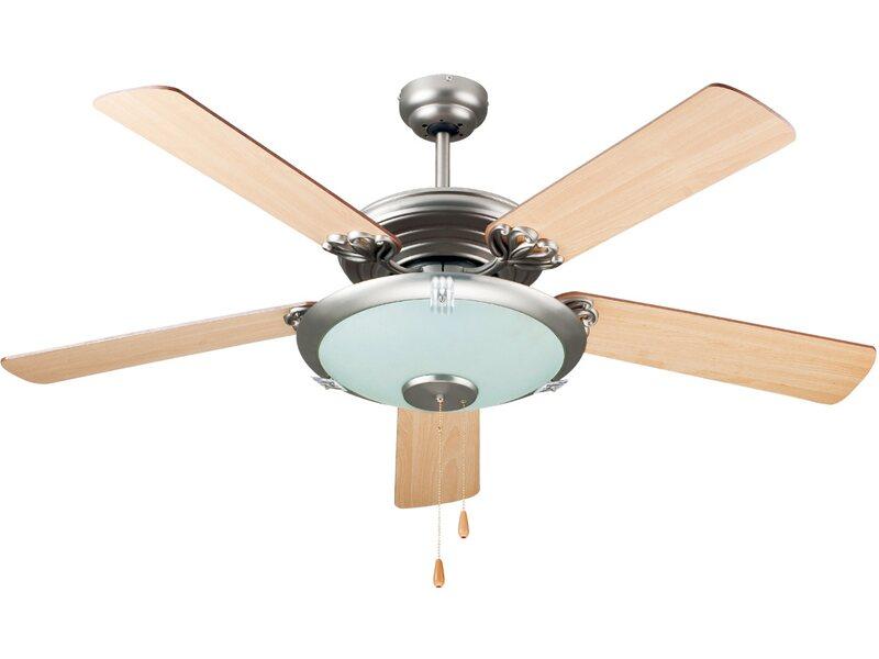 Ventilatore da soffitto 5 pale legno con telecomando for Ventilatori da soffitto obi