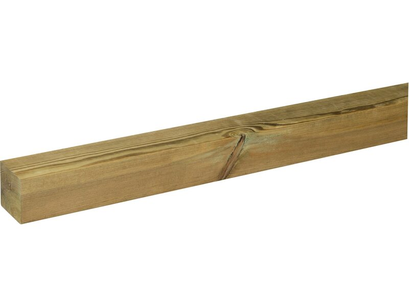 Palo quadro 7 cm x 7 cm h 300 cm acquista da obi for Travi finto legno obi