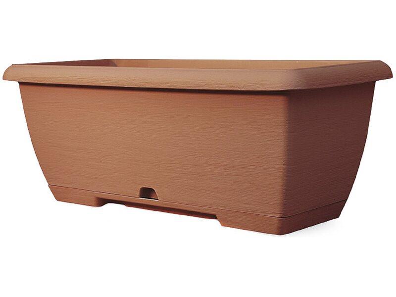 Cassetta terrae midi con sottocassetta 45 cm terracotta for Fioriere in legno obi