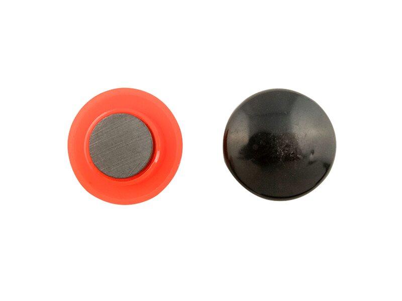 Calamita tonda con magnete ricoperto Ø mm colori assortiti pz