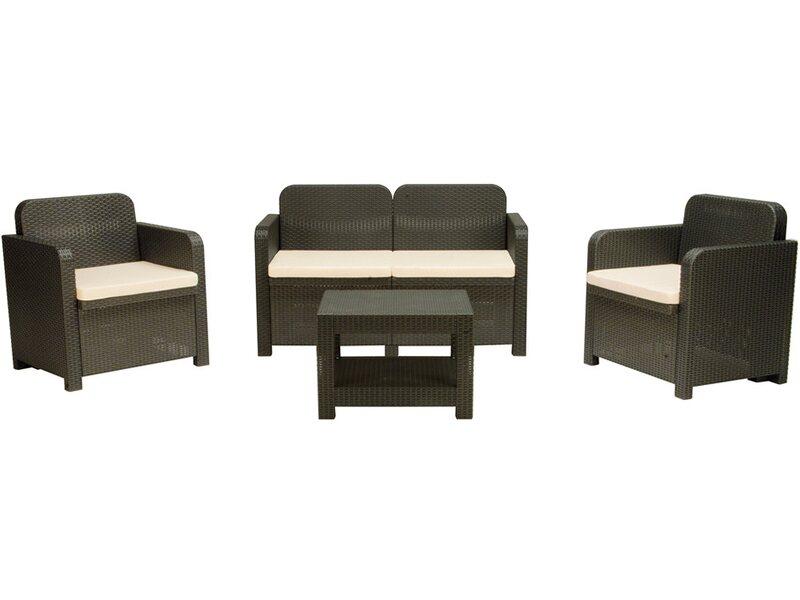 Panchina Giardino Obi : Grandsoleil set sofà sorrento antracite acquista da obi
