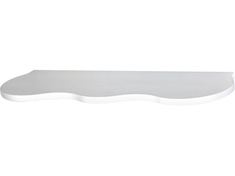 Mensola linea onda laccata bianca 555 mm x 185 mm x 16 mm for Mensola laccata bianca