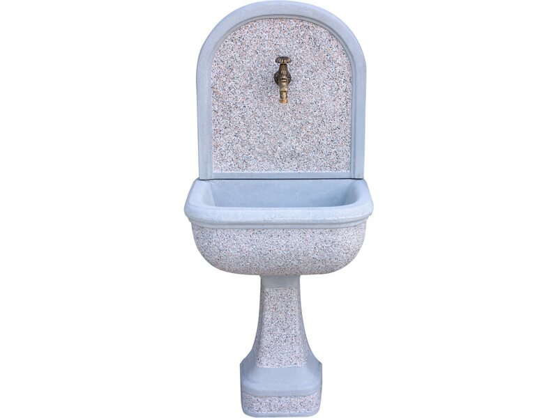 Fontana a muro mincio martellinata grigio acquista da obi for Fontane da giardino obi