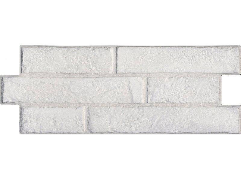 Placchetta rivestimento murale in gres porcellanato bianco for Obi taglio legno