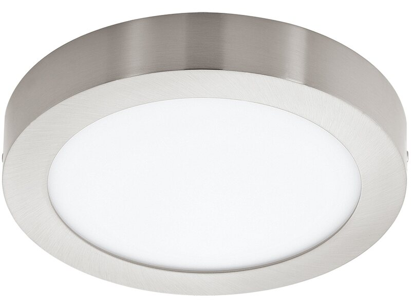 Obi Plafoniere Led : Plafoniera led fueva nickel satinato w Ø mm